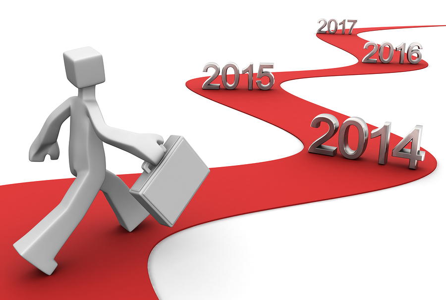 Bright future success concept 2014 3d illustration